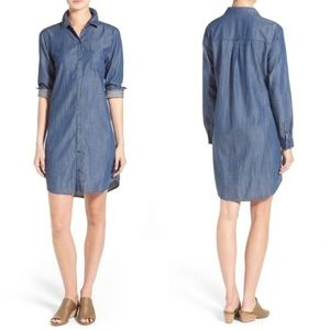 Eileen Fisher Long Sleev Chambray Dress